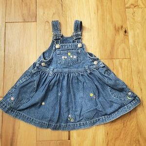 babyGap Embroidered Overall Dress